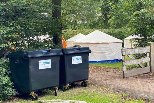 De Blue Groep maakt schoon bij evenementen en campings